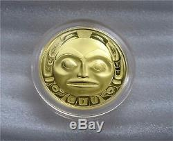 1997 Canada $200 Dollars Gold Coin Haida Mask THE RAVEN 22k -1/2 Oz Proof