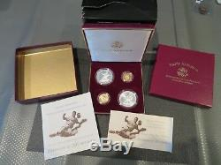 1997 Jackie Robinson & Gold & Silver (4) Coin Set-free Shipping