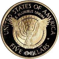 1997-W US Gold $5 Franklin Delano Roosevelt Commemorative Proof Coin in Capsule