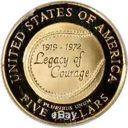 1997-W US Gold $5 Jackie Robinson Commemorative Proof PCGS PR69 DCAM