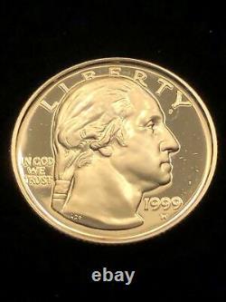 1999-W G. Washington 1/4 Ounce Gold Proof $5 Bicentennial US Commemorative Coin