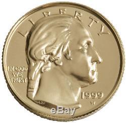 1999-W George Washington $5 UNC Gold Commemorative