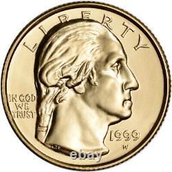 1999-W US Gold $5 George Washington Commemorative BU Coin in Capsule