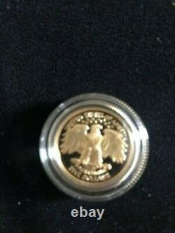 1999 W Washington Proof $5 Commemorative Gold USA Coin 8.359 Grams of Gold