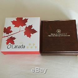 1/10 oz Fine Gold Coins O Canada 5-Coin Set Mintage 4000 (2013)