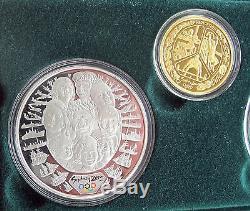 2000 Australia Olympic coin set $5 $100 dollars 9999 gold silver 1/3 Oz. Sydney