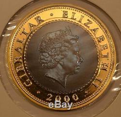 2000 Gibraltar Uniform Penny Post Gold & Titanium Bi-Metallic Commemorative