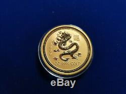 2000 Lunar Series Year of the Dragon Australian. 999 1 Ounce Gold Coin