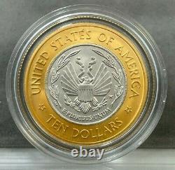 2000-W $10 Library of Congress Coin Bi-Metallic UNCIRCULATED Gold/Platinum BU