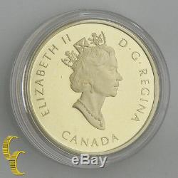 2002 Canada $100 Proof Gold Coin, 55th Ann. Of Discovering oil in Alberta KM#452