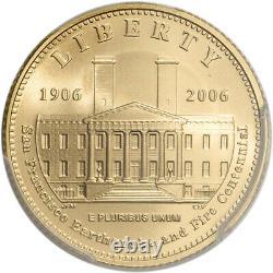 2006-S US Gold $5 San Francisco Old Mint Commemorative BU PCGS MS69