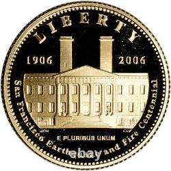 2006-S US Gold $5 San Francisco Old Mint Commemorative Proof Coin in Capsule