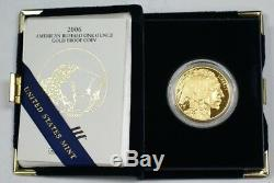 2006 US Buffalo Bullion Gold Coin $50 1 oz of. 999 In Mint Packaging With Box COA