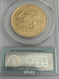 2006 W $50 1oz GOLD EAGLE REVERSE PROOF PCGS PR70 FIRST STRIKE