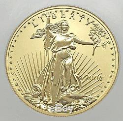 2006-W $50 GOLD EAGLE 20th ANNIV. REVERSE PROOF COIN NGC PF 70 (-039)