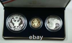 2008 Bald Eagle Gold & Silver Commemorative Coin Proof Set w Box COA