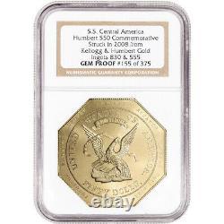 2008 Humbert 2.5 oz California Gold Commemorative $50 NGC Gem Proof Ultra Cameo