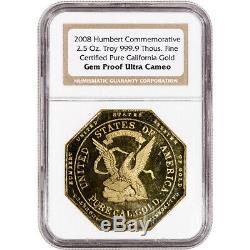 2008 Humbert 2.5 oz California Gold Commemorative NGC Gem Proof Ultra Cameo