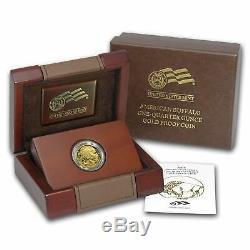 2008-W 1/4 oz Proof Gold Buffalo (withBox & COA)
