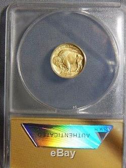 2008 W $5.00 1/10 oz 9999 24K GOLD BUFFALO ANACS SP69 First Strike. RC1507