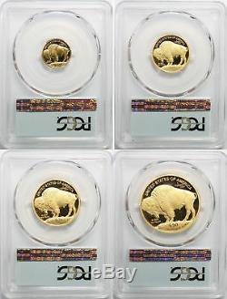 2008-W American Gold Buffalo 4 Coin Proof Set P. C. G. S. PR-70 DEEP CAMEO GEM