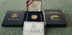 2008-W Proof $5 Gold Bald Eagle Commemorative Coin with Box & COA (EA-1)