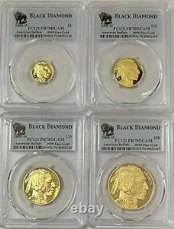 2008-W Proof Buffalo Gold Eagle 4-Coin Set PCGS PR-70 DCAM Consecutive Numbers