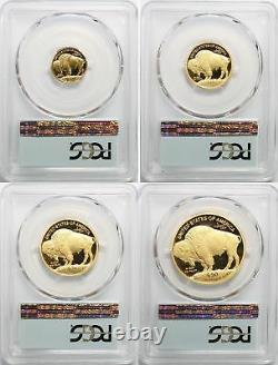 2008-W Proof Buffalo Gold Eagle 4-Coin Set PCGS PR-70 DCAM, Consecutive Numbers