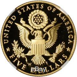 2008-W US Gold $5 Bald Eagle Commemorative Proof NGC PF70 UCAM