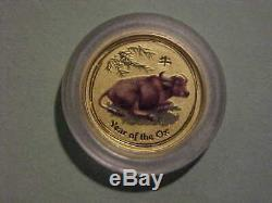 2009 Australian 1/20 Oz Year of the Ox Gold Coin