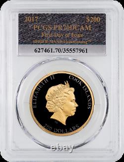 $200 2017 Spiderman Commemorative Gold Coin PCGS PF70DCAM FDI with Stan Lee Sign