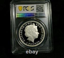 2010 Britannia PCGS PR69 DCAM Great Britain 1 oz Silver Coin Gold Shield UK £2