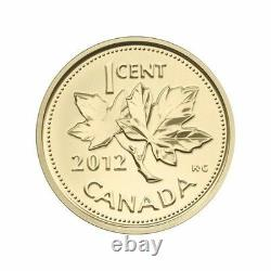 2012 Canada 1/25oz. Gold Coin Farewell to the Penny