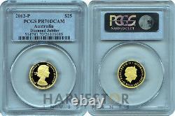 2012 Diamond Jubilee Gold Proof Coin Perth Mint Pcgs Pr70 Dcam Pop 12