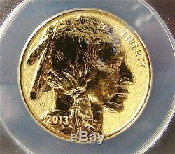 2013-W American Buffalo Gold $50 1 oz. 9999 Fine Reverse Proof PF-70 ANACS