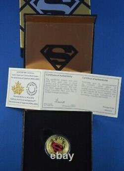 2014 $100 Superman 14kt Gold Coin Royal Canadian Mint