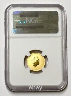 2014 Australia Lunar Year Of The Horse $15 1/10 Gold Coin NGC Ms 70 E/R