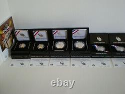 2014 Baseball Hof Complete 7 Coin Collection-gold, Silver, Clad & Young Collector