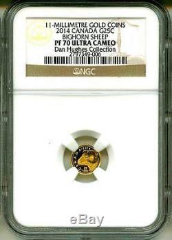 2014 G25c Canada Gold Coin Rocky Mountain Bighorn Sheep NGC PF70 UC Box & COA