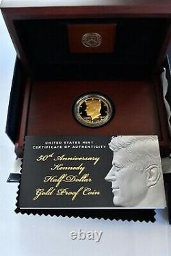 2014 Kennedy 50th Anniversary Half-Dollar Gold Proof Coin Complete Westpoint
