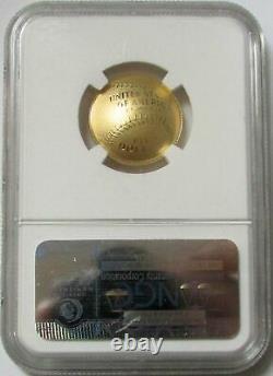 2014 W Gold $5 National Baseball Hall Of Fame Proof Coin Ngc Pf 70 Uc