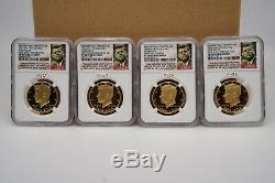 2014 W Kennedy 4-3/4 Oz Gold First Day 50th Anniversary Chi, D, P, Wa Dc, Pf 70 Uc