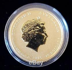 2015 Australia 1/10 oz Lunar Year of the Goat Gold Coin BU in Capsule