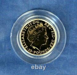 2015 Gold 1/10oz £10 coin Year of the Sheep in Card Box with COA