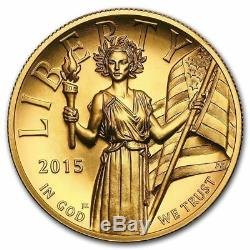 2015 W $100 American Liberty High Relief 1 Oz Gold Coin unopened 1st Strike Elig