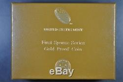 2015 W First Spouse Gold Proof Coin Jackie Kennedy $10 WithBox and COA
