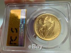 2015-W High Relief $100 Liberty Gold Coin PCGS MS 70 FS Comes with OGP and COA