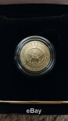 2015-W US Marshals 225th Anniversary $5 Gold Uncirculated Coin, COA & Box