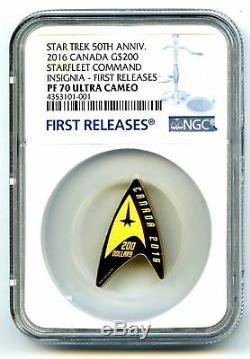 2016 $200 Canada Gold Star Trek Ngc Pf70 Ucam Delta Coin First Releases Pop1 001