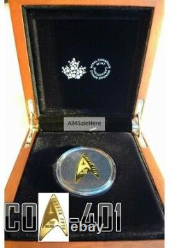 2016 Canada $200 0.5 1/2 Oz 9999 Pure Gold 50th Anniversary Star Trek Delta Coin